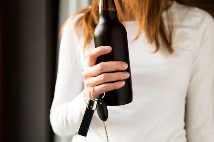 risque d'accident boire de l'alcool ou conduire