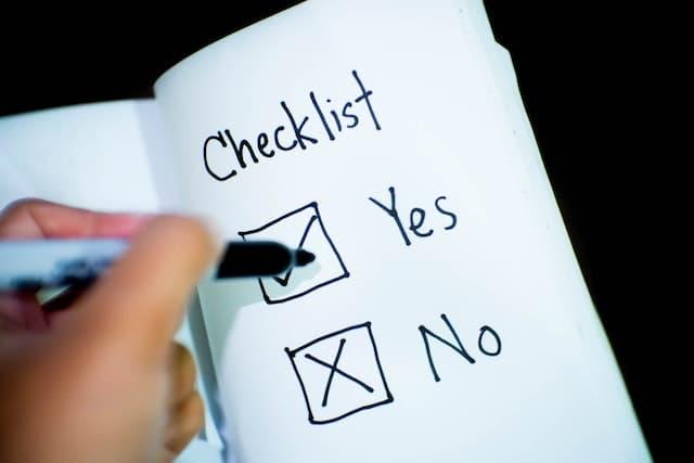 Faire une liste peut être une bonne méthode pour décomposer la tâche en tâches plus petites.